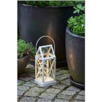 Sirius Aske Outdoor Lantern with Timer - Cream