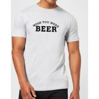 Beershield Wish You Were Beer Men's T-Shirt - XXL - Grey - Wish Gifts