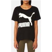 Puma Womens Archive Logo Short Sleeve T-Shirt - Cotton Black - M/UK 12 - Black