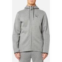 Puma Mens Evo Core Full Zip Hoody - Medium Grey Heather - XL - Grey