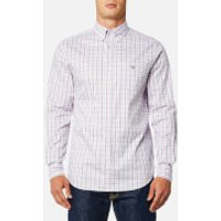 GANT Men's Oxford Check Button Down Shirt - California Pink - S - Pink