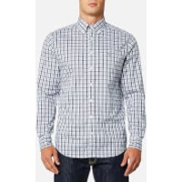 GANT Men's The Oxford Check Button Down Shirt - Persian Blue - S - Blue
