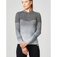 Seamless Ombre Hoodie - L - Black