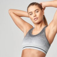 Seamless Ombre Bra - XL - Black