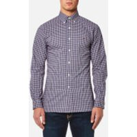Polo Ralph Lauren Men's Slim Fit Poplin Check Shirt - Navy/Red - XXL - Blue