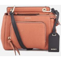 DKNY Women's Pebble Leather Mini Top Handle Cross Body Bag - Terracotta