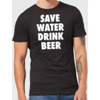 Beershield Save Water Drink Beer Men's T-Shirt - S - Black - Beer Gifts