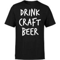 Drink Craft Beer Mens T-Shirt - S - Black