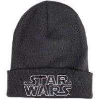 Star Wars Mens Retro Logo Beanie - Graphite Grey