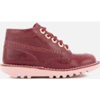 Kickers Kids Kick Hi Boots - Burgundy - UK 7 Infant/EU 24 - Burgundy