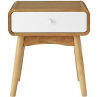 Fifty Five South Malmo Side TableWith Drawer - White Oak Veneer - Furniture Gifts