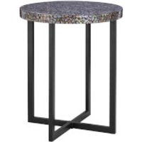 Fifty Five South Fusion Round Side Table - Crackle Mosaic - Furniture Gifts