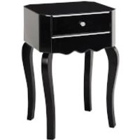 Fifty Five South Orchid Side Table - Black Glass