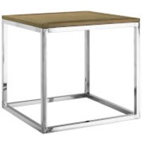 Fifty Five South Hampstead Side Table - Oak Wood/Stainless Steel - Furniture Gifts