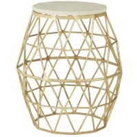 Fifty Five South Templar Side Table - Gold/Stone - Furniture Gifts