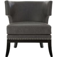 Fifty Five South Kensington Townhouse Chair - Grey Leather Effect
