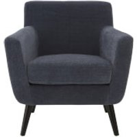 Fifty Five South Stockholm Chair - Blue Velvet/Oak