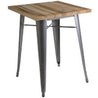 Fifty Five South Aldgate Table - Silver Powder Coated Finish