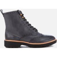 Clarks Womens Witcombe Flo Leather Brogue Lace Up Boots - Dark Grey - UK 6 - Grey