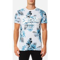 Superdry Mens Premium Goods All Over Print T-Shirt - Ice Marl - S - White