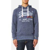 Superdry Mens Sweat Shirt Shop Surf Hoody - Chambray Blue Snowy - L