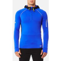 Superdry Mens Sports Athletic Half Zip Hoody - Cobalt - XXL - Grey