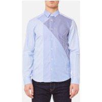 KENZO Men's Graphic Patchwork Shirt - Light Blue - EU 39/M - Blue