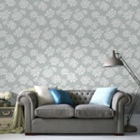 Superfresco Lotus Flower Glitter Wallpaper - Duck Egg