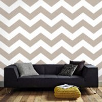 Superfreso Easy Chef Chevron Geometric Wallpaper - Taupe - Chef Gifts