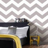 Superfreso Easy Chef Chevron Geometric Wallpaper - Grey - Chef Gifts