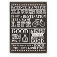 Art For The Home Happiness Typography Quotes Large Canvas Wall Art - Quotes Gifts