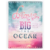 Art For The Home Dreams As Big As The Ocean Quote Bright Printed Canvas Wall Art - Ocean Gifts