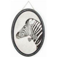 Art For The Home Ziggy Zebra Vintage Printed Canvas Wall Art - Zebra Gifts