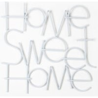 Art For The Home Home Sweet Home Contemporary Metal White Wall Art - Sweet Gifts