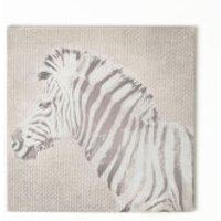 Art For The Home Zebra Printed Linen Texture Canvas Wall Art - Zebra Gifts