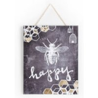 Graham & Brown Bee Happy Printed Canvas Wall Art - Bee Gifts
