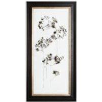Art For The Home Botanical Seed Head Floral Metallic Framed Art