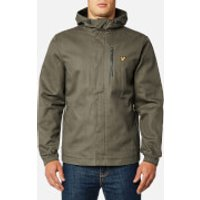 Lyle & Scott Mens Hooded Curved Hem Jacket - Dusty Olive - L