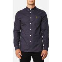 Lyle & Scott Mens Garment Dye Oxford Shirt - Washed Grey - XL - Grey