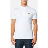 Lyle & Scott Mens Woven Collar Polo Shirt - White - XL