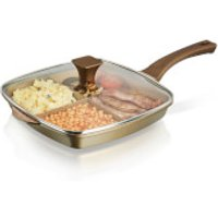 Tower Cerastone 3-in-1 Cast Grill Pan - 28cm - Gold