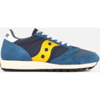 Saucony Mens Jazz Original Vintage Trainers - Blue/Yellow - UK 8 - Blue/Yellow