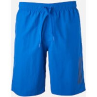 adidas Swim Mens 3 Stripe Shorts - Blue - L - Blue