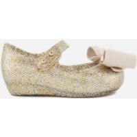Mini Melissa Toddlers' Ultragirl Bow Glitter 18 Ballet Flats - Gold - UK 4 - Gold