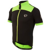 Pearl Izumi Pro Pursuit Wind Short Sleeve Jersey - Black/Screaming Green - XL - Black/Green