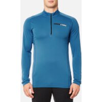adidas Terrex Mens Tracerocker 1/2 Zip Long Sleeve Top - Core Blue - M - Blue