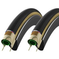 Vittoria Corsa G+ Clincher Tyre Twin Pack - 700c x 23mm - Anthracite/Black