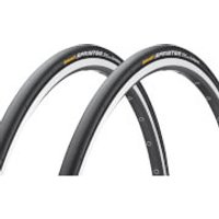 Continental Sprinter Tubular Tyre Twin Pack - 28in x 22mm - Black