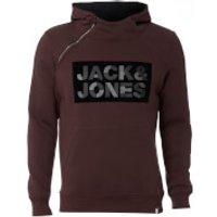 Jack & Jones Mens Core Kalvo Hoody - Fudge - S - Burgundy
