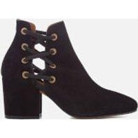 Hudson London Women's Kris Suede Heeled Ankle Boots - Black - UK 6 - Black
